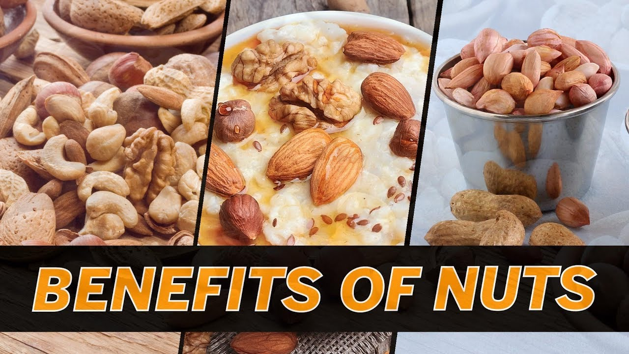 Nuts are recommended foods for a healthy and balanced diet